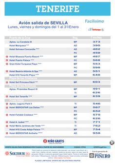 Especial Oferta. Hoteles en TENERIFE salidas desde Sevilla ultimo minuto - http://zocotours.com/especial-oferta-hoteles-en-tenerife-salidas-desde-sevilla-ultimo-minuto/