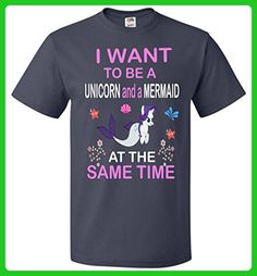 I WANT TO BE A UNICORN AND A MERMAID AT THE SAME TIME Unisex T-Shirt - Fantasy sci fi shirts (*Amazon Partner-Link)