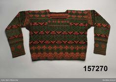 Stickad tröja från Delsbo, Hälsingland, Sweden.