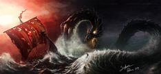 The World Serpent by SigbjornPedersen.deviantart.com on @DeviantArt