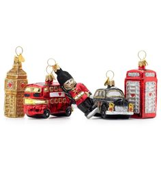 Bombki hand decorated, mouth blown glass Christmas tree charms will make ones tree very British.