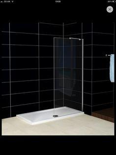 Wet room glass shower screen £90 + P, eBay