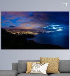 Nieuw in mijn Werk aan de Muur shop: TENERIFE SUNSET Tenerife, Tapestry, Throw Pillows, Canvas, Home Decor, Art, Kunst, Hanging Tapestry, Tela