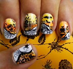 @KatieSheaDesign ♡❤ #Nails #halloween ❤♡ ♥ ❥ Halloween nails