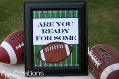 worthyoftheprize.com: (Free) Football Party Printables