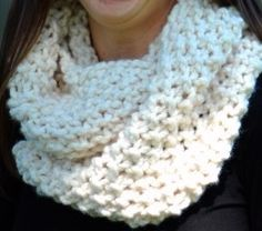 Sleigh Ride Infinity Scarf Cowl - knitted flat