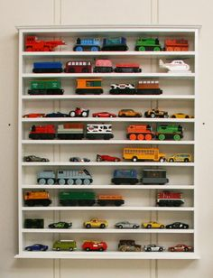 Toy Car & train display--for all those crazy-expensive Thomas trains!!