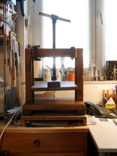 Fine Bookbinding Magazine on Flipboard Bookbinding Tools, Create A Magazine, Book Press, Wood Book, Let Your Light Shine, Book Projects, Handmade Books, Book Binding, Tool Storage
