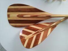 paddle wooden canoe bent shaft bent-shaft hand made handmade Canadian