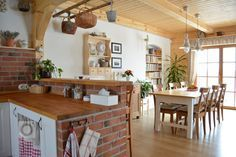 add picture to album Rustic Kitchen, New Kitchen, Kitchen Dining, Rustic Interiors, Cozy House, Home Living Room, Interior Decorating, Sweet Home, New Homes