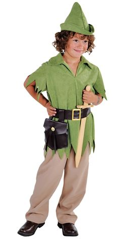 Deluxe Robin Hood or Peter Pan Boy Costume (212027) £24.99  #fancydress #costumes #WorldBookDayUK