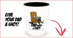Funny shot glass | Dad needs a shot | Fathers day gift  #fathers day gift