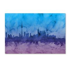 Michael Tompsett 'Toronto Canada Skyline II' Wall Art