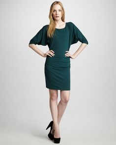Gathered Jersey Dress by Susana Monaco at Neiman Marcus. Made in USA $66