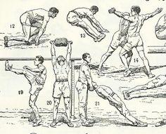 1930 Gymnastique, planche illustrée ancienne originale Dictionnaire sports culture physique scrapbooking décor vintage entre-deux-guerres de la boutique sofrenchvintage sur Etsy