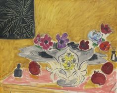 Henri Matisse (French, 1869-1954), Anémones et grenades [Anemones and pomegranates], 1946. Oil on canvas, 65 x 81.2 cm.