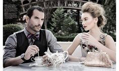 Kate and Elliot come to tea! gorgeous duo!