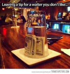 This is genius, and frankly I'm angry I didn't think of it myself. Because there's an overabundance of sh*tty, entitled bartenders in this city who don't understand that tipping is based on service.