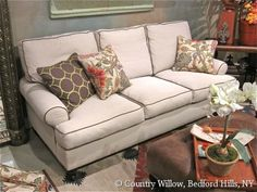 Available in loveseat, apartment sofa, and chair. Over 1000 fabrics, many cushion options-Country Willow Furniture