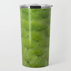 Overlapping Succulent Plant Leaves Travel Mug - Keeps your drink hot or cold - #travelmug #thermalmug #thermaltumbler #society6 (affiliate link)