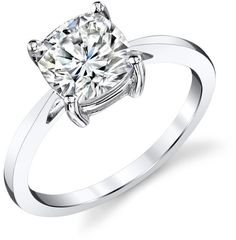 Ice 2 CT TW DEW Forever Brilliant Moissanite Solitaire Ring in 14K White Gold