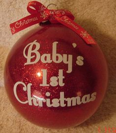Baby's 1st Christmas glass ornament on Etsy, $8.00