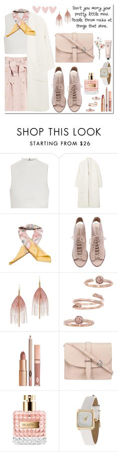 """Positive vibes"" by hancicaf ❤ liked on Polyvore featuring Alice by Temperley, Elizabeth and James, MANGO, Hermès, Serefina, Kendra Scott, Dolce Vita, M.N.G, Valentino and Miss Selfridge"