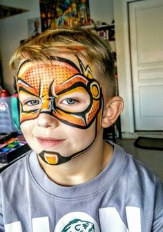 Kid Flash face Painting Design by Gracy Ly!