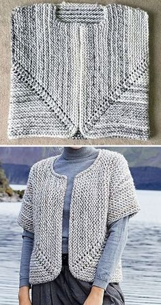 Free knitting pattern little fictions free crochet pattern for a one skein shawl annie design crochet Knit Vest Pattern, Crochet Jacket, Sweater Knitting Patterns, Easy Knitting, Knit Or Crochet, Double Knitting, Loom Knitting, Knit Patterns, Bolero Pattern