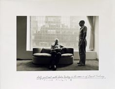Duane Michals, Self-Portrait with André Kertész in the Manner of David Hockney, 1982