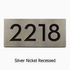 neutraface address plaque house numbers in finish by atlas signs and plaques