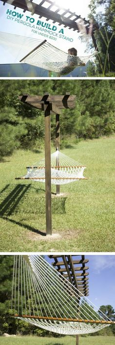 Repinned by *Doniele Disney* www.justaddtwins.com Check out how to build a DIY pergola hammock @istandarddesign