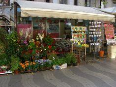 Blumenstand auf der La Rambla in Barcelona