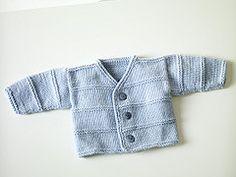 Ravelry: Garter Ridge Baby Cardigan #70301AD pattern by Sarah Hoadley