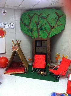 Super Ideas For Camping Theme Classroom Ideas Dramatic Play Classroom Setting, Classroom Design, Classroom Organization, Classroom Decor, Forest Classroom, Camping Theme For Classroom, Preschool Camping Theme, Classroom Cubbies, Camping Activities