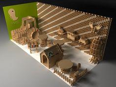 Детская мебель из гофрированного картона. Проект Tsuchinoco от Masahiro Minami   Промышленный дизайн   Предметы быта