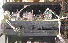 Interesting way to display your Halloween Village