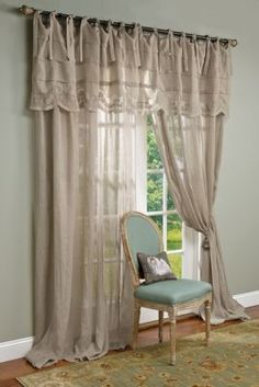 Camille Drapery Panel - Linen Window Panels, Embroidered Drapery Panel | Soft Surroundings