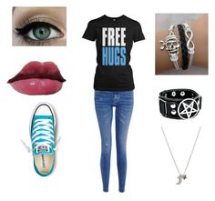 """""""Monique's Outfit"""" by children-surrender-0 ❤ liked on Polyvore featuring M.i.h Jeans, With Love From CA, Converse and Shiseido"""