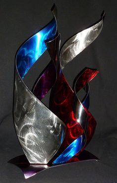 Abstract Metal Art Sculpture by Dennis Boyd by dennisboyddesigns