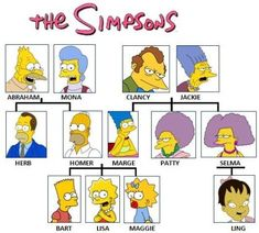 Family Tree Picture from The Simpsons. Funny image of the simpsons family tree The Simpsons, Simpsons Quotes, Simpsons Funny, Simpsons Characters, Family Tree Worksheet, Los Simsons, Family Quiz, Family Family, Vintage Cartoon