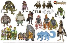 Well known website IGN recently conducted an interview with Dan Norton, the art director on the new ThunderCats series, where he revealed a number of exciting Thundercats Characters, Thundercats Cartoon, Thundercats 2011, Cartoon Characters, Alien Character, Character Concept, Character Design, Character Sheet, Character Drawing