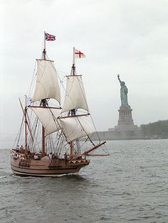 Godspeed - Captain Bartholomew Gosnold The smallest of the fleet of ships of the Virgina Company who founded the first permanent settlement of England in America May 14, 1605. (aka story of Pocahontas and John Smith)