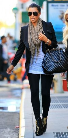 simple yet so cute! love the scarf