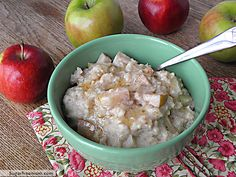 Sugar Free Crockpot Apple Oatmeal (this was really good, simple, filling and @ 200 calories a serving). Swirl in some honey, peanut butter or maple syrup if you wish