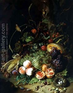 Rachel Ruysch:Still Life of Fruit with a Birds Nest and Insects, 1710 - but where can it be seen?