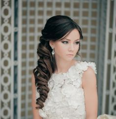 To see more gorgeous #hairstyles: http://www.modwedding.com/2014/04/08/classy-and-timeless-wedding-hairstyles-from-elstile/ #wedding #weddings