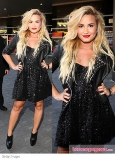 Demi Lovato in Topshop Sequin Dress