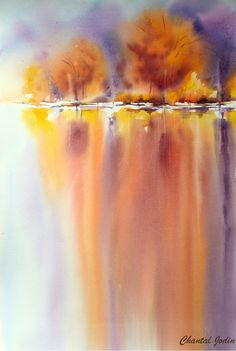 New abstract landscape watercolor acrylic paintings Ideas – Landscaping 2020 Watercolor Painting Techniques, Watercolor Landscape Paintings, Watercolor Trees, Watercolour Painting, Landscape Art, Acrylic Paintings, Watercolors, Painting Lessons, Watercolor Background