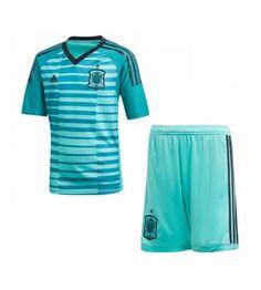 Spain Home Goalkeeper Adidas Mini Kit Soccer Shop, Football Kits, Goalkeeper, Unisex, Pajama Pants, Swimwear, Tops, Portugal, Fashion